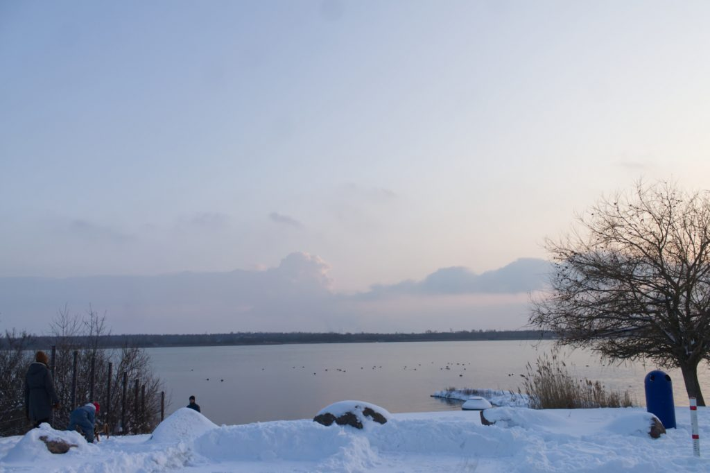 Schnee am Markkleeberger See